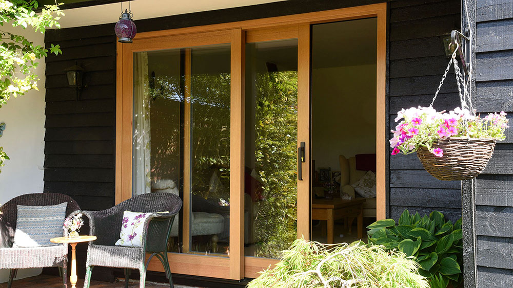 Timber patio doors