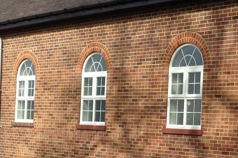 PVC arched windows