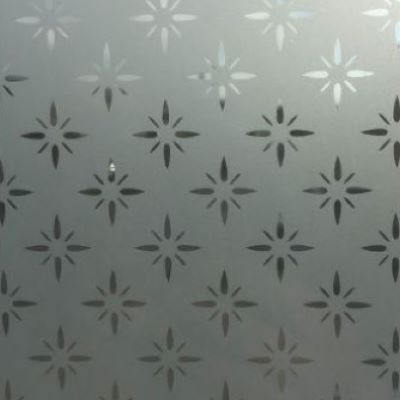 Etched star glazing